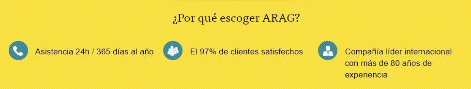Arag es una empresa alemana que se encarga de ofrecer protección legal
