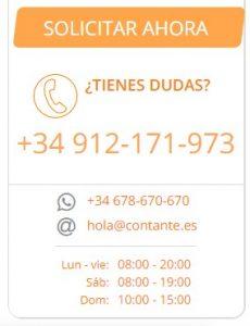 Solicitar un crédito online en Contante es muy simple y seguro
