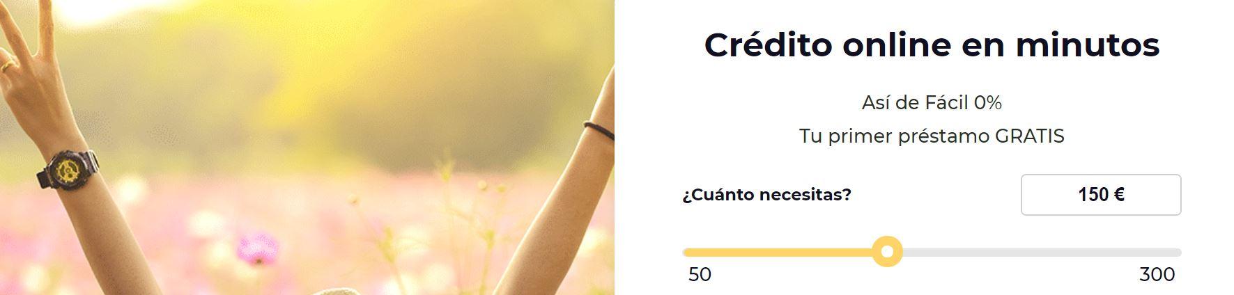 En esta entidad de rpéstamos puedes pedir hasta 3000 euros.