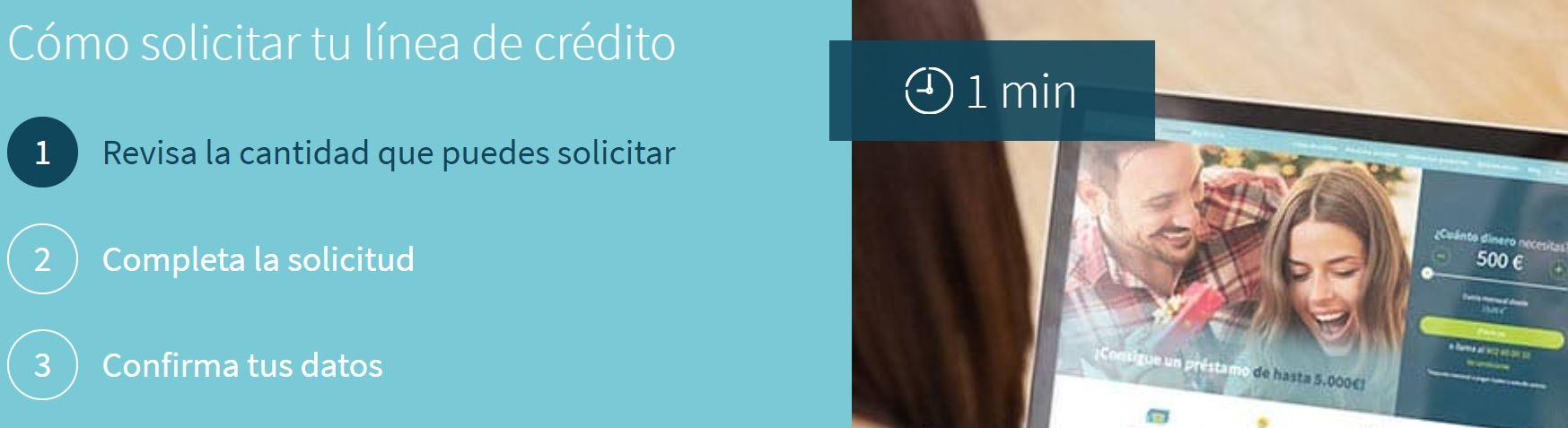 Pedir un préstamo en Creditea es una operación rápida y sencilla.