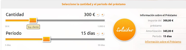 En Credistar podrás pedir 300 euros sin intereses.