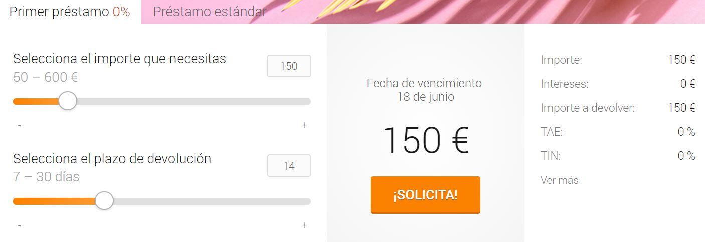 Se puede solicitar más de 1.000 euros en préstamos personales.
