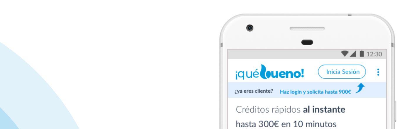 Es posible pedir un préstamo en Que bueno desde tu móvil.