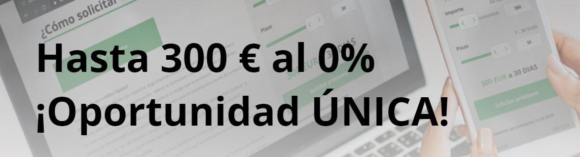 Wandoo ofrece 300€ de promoción con el primer préstamo.