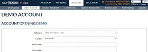 Cómo abrir una cuenta demo en CapTrader