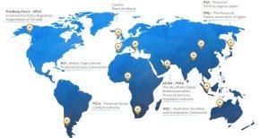 Países disponibles con regulación para AvaTrade