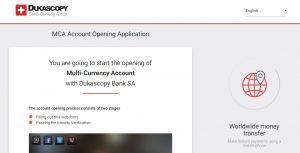 Cómo abrir una cuenta en Dukascopy