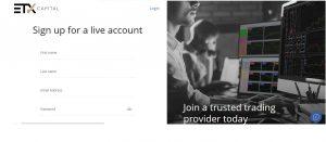 Cómo abrir una cuenta en ETX Capital