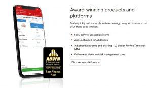 App móvil de IG Markets para Trading