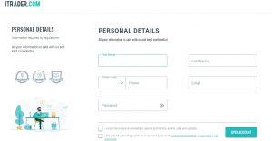 Cómo abrir una cuenta online en Itrader