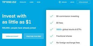 TRADING212 ofrece numerosos productos financieros